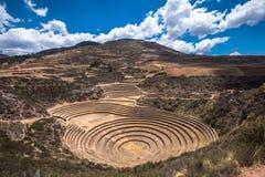 Moray, eine archäologische Fundstätte nahe Cusco, Peru Stockbilder