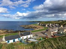 Moray Firth in Buckie, Schotland Royalty-vrije Stock Afbeelding