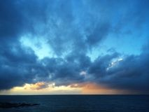 Moray Firth-Sonnenuntergang Lizenzfreie Stockfotos