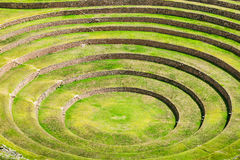 Moray inca ruins Royalty Free Stock Images