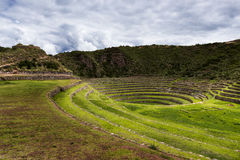 Moray Inca Terraces, Peru. Inca circular terraces in Moray, in the Sacred Valley, Peru. Moray is an archeological site, close to the village of Maras. The ruins Royalty Free Stock Image
