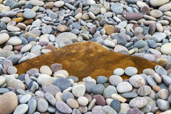 Moray pebbles and rock. Royalty Free Stock Images
