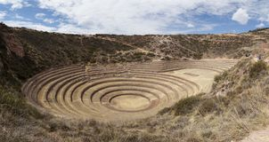 Moray site , Inca, Peru. Moray[1][2] Quechua: Muray[3] is an archaeological site in Peru approximately 50 kilometres 31 mi northwest of Cuzco on a high plateau Stock Image