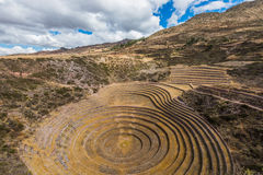 Moray ruins peruvian Andes  Cuzco Peru Royalty Free Stock Images