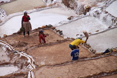 Moray salt terraces, Peru Royalty Free Stock Images