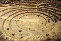 Morayplaats, Inca, Peru royalty-vrije stock afbeeldingen