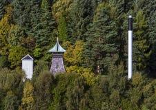 Morays versteckte Brennerei. Stockbild