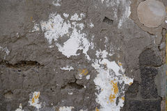 Morbid grey stucco wall Stock Photo