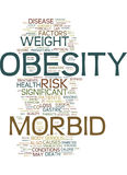Morbid Obesity Text Background Word Cloud Concept royalty free illustration