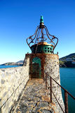 Morbid old lighthouse. Closeup view of a lighthouse of Collioure, France Stock Images