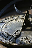 Morbid Sundial. Sundial that reads Grow Old Along With Me The Best Is Yet To Be Stock Images