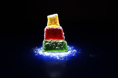 Morbidezza gommosa senza cuciture del dessert delle caramelle delle gelatine di frutta multi Immagine Stock Libera da Diritti