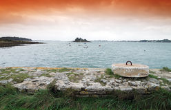 Morbihan coast. In Brittany country Royalty Free Stock Image