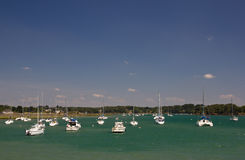 Morbihan Gulf. Perspective of the Brittany beach on the Morbihan Guolf (see the Geo location Royalty Free Stock Photo