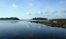 Morbihan island's in Brittany Stock Images