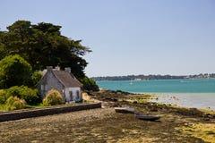 Morbihan Zatoka - rybaka dom Fotografia Royalty Free