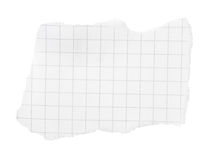 Morceau déchiré de papier carré Photos libres de droits