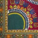Morceau d'un tissu africain manufacturé (coton) Photographie stock libre de droits