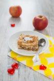 Morceau d'une tarte aux pommes Image stock