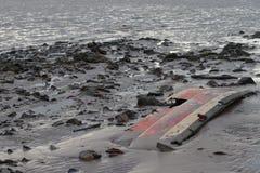 Morceau de bateau cassé photographie stock