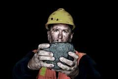 Morceau de charbon Images stock