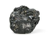 Morceau de charbon d'isolement sur le blanc Image stock
