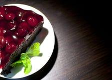 Morceau de chocolat de gâteau Photos libres de droits