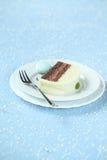 Morceau de chocolat Yule Log de menthe de Noël photographie stock libre de droits