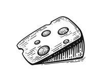 Morceau de croquis de fromage image stock