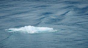 Morceau de flottement de glace de glacier dans l'eau bleue photos libres de droits
