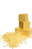 Morceau de fromage Photographie stock libre de droits