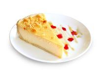 Morceau de gâteau au fromage Photos libres de droits