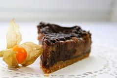 Un morceau de gâteau au fromage Photographie stock libre de droits
