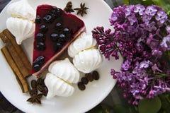 Morceau de gâteau au fromage délicieux 21 Photographie stock