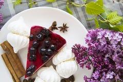 Morceau de gâteau au fromage délicieux 20 Photo libre de droits