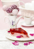 Morceau de gâteau de fraise Image stock