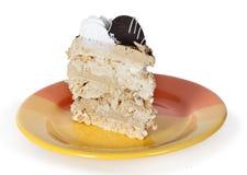 Morceau de gâteau de plat photographie stock libre de droits