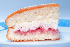 Morceau de gâteau mousseline Image libre de droits