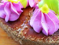 Morceau de gâteau Vous pouvez solliciter le papier peint, carte d'anniversaire, Photos stock