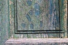 Morceau de heurtoir et de cairate Varèse Italie de brun en bois de porte en bois photos libres de droits