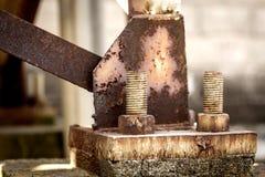 Morceau de métal rouillé Images stock