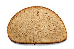 Morceau de pain d'isolement sur le fond blanc Photos libres de droits