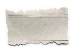Morceau de papier Image libre de droits