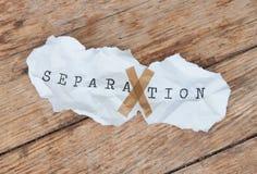 Séparation Images stock