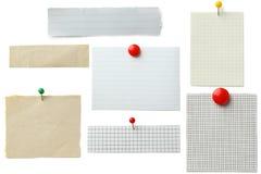 Morceau de papier de note photos stock