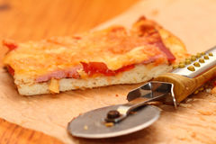 Morceau de pizza Images libres de droits