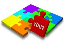 Morceau de puzzle avec le texte Photo libre de droits