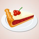 Morceau de tarte aux cerises illustration libre de droits