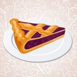 Morceau de tarte de myrtilles illustration libre de droits