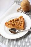 Morceau de tarte de potiron avec des noix Photographie stock